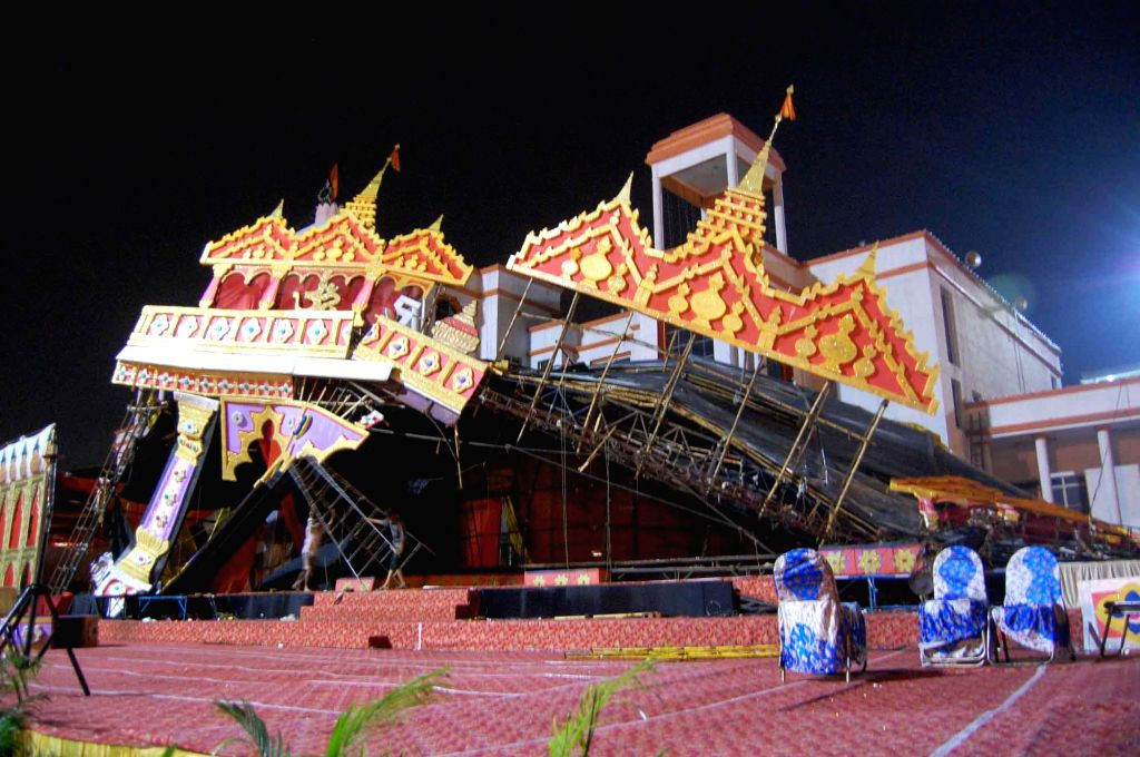 Aishbagh Ram Leela pandal that collapsed in Lucknow on Oct 5, 2016. Modi is set to witness Ram Leela at Aishbagh on Dussehra.