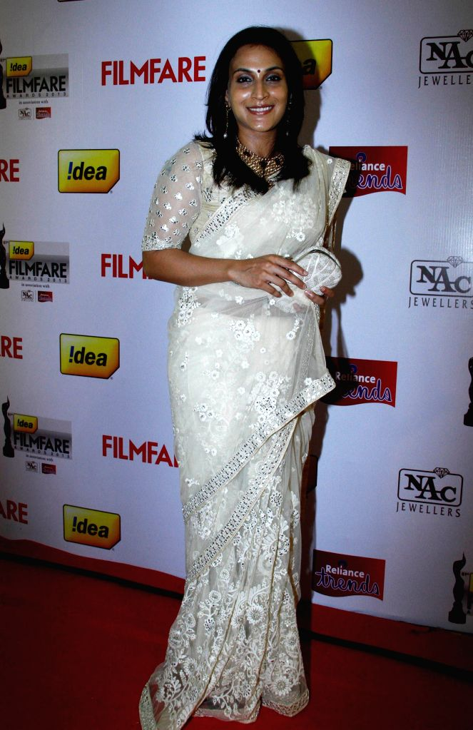 Aishwarya at the `61st Idea Filmfare South Awards 2013` held in Chennai at Nehru Stadium.