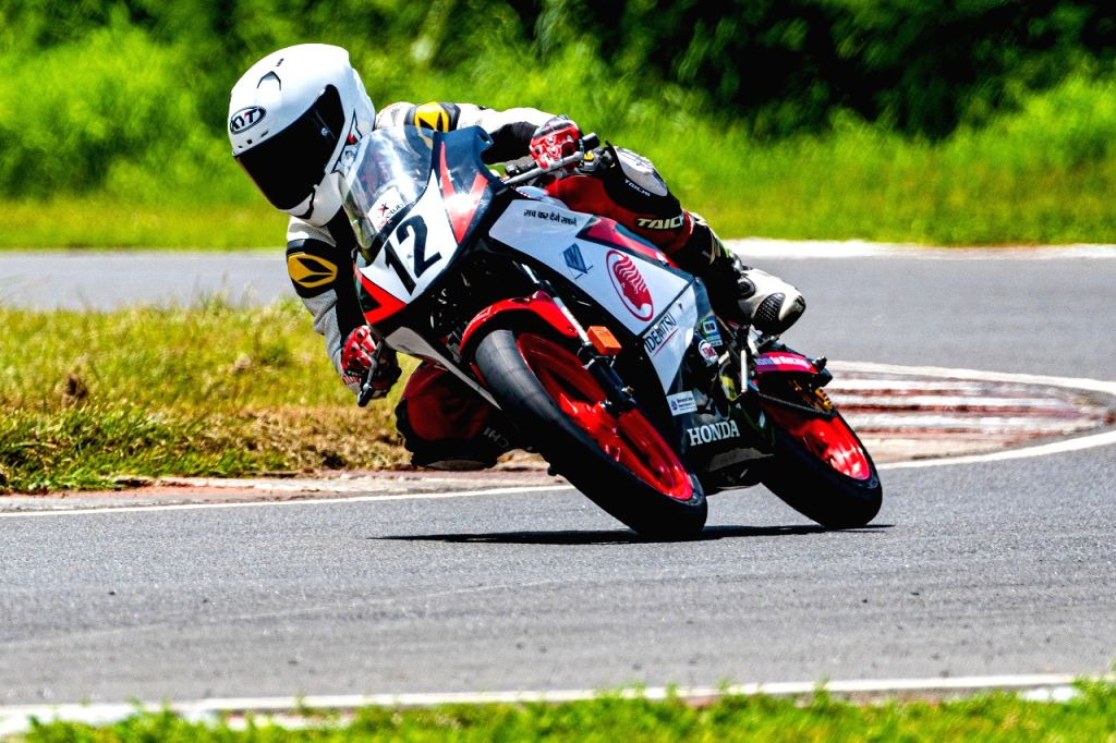 Aizwal rider Lal Nunsanga leads the IDEMITSU Honda Talent Cup CBR150R category.