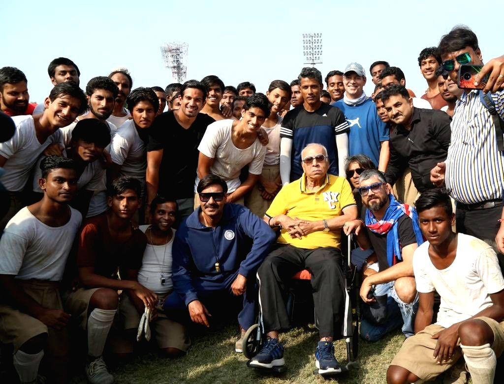 Ajay Devgn has mourned the demise of legendary footballer PK Banerjee on social media. - Ajay Devgn