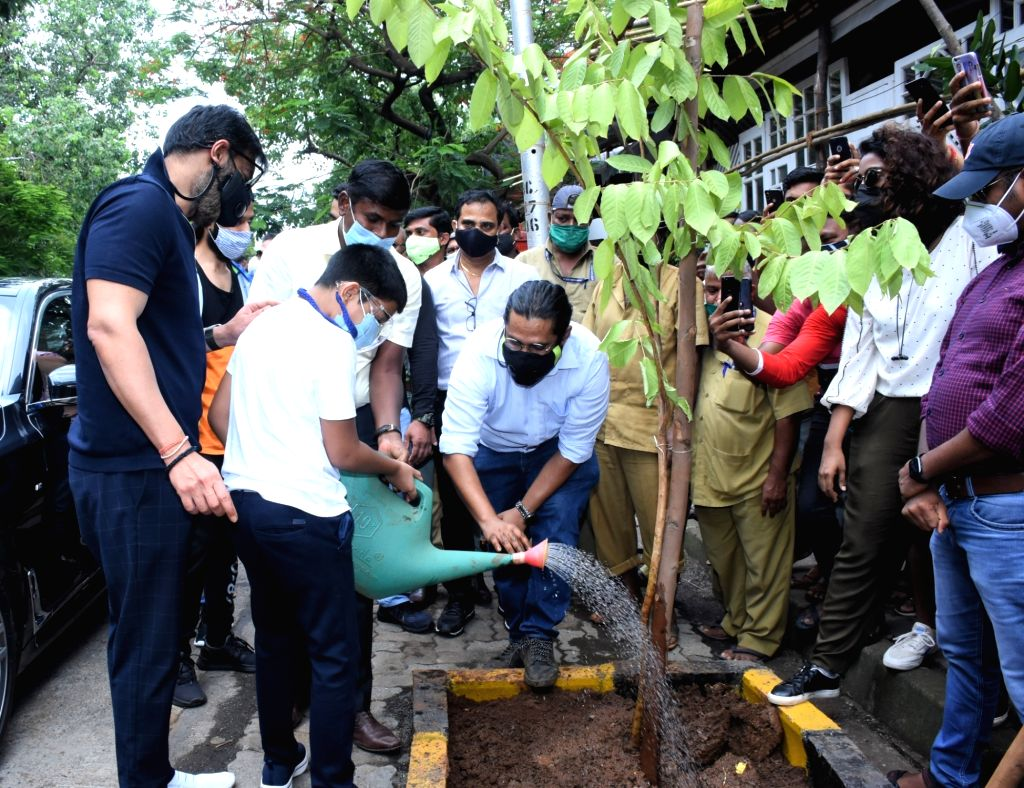 Ajay Devgn on planting trees: I can set example, all including kids should be involved - Ajay Devgn