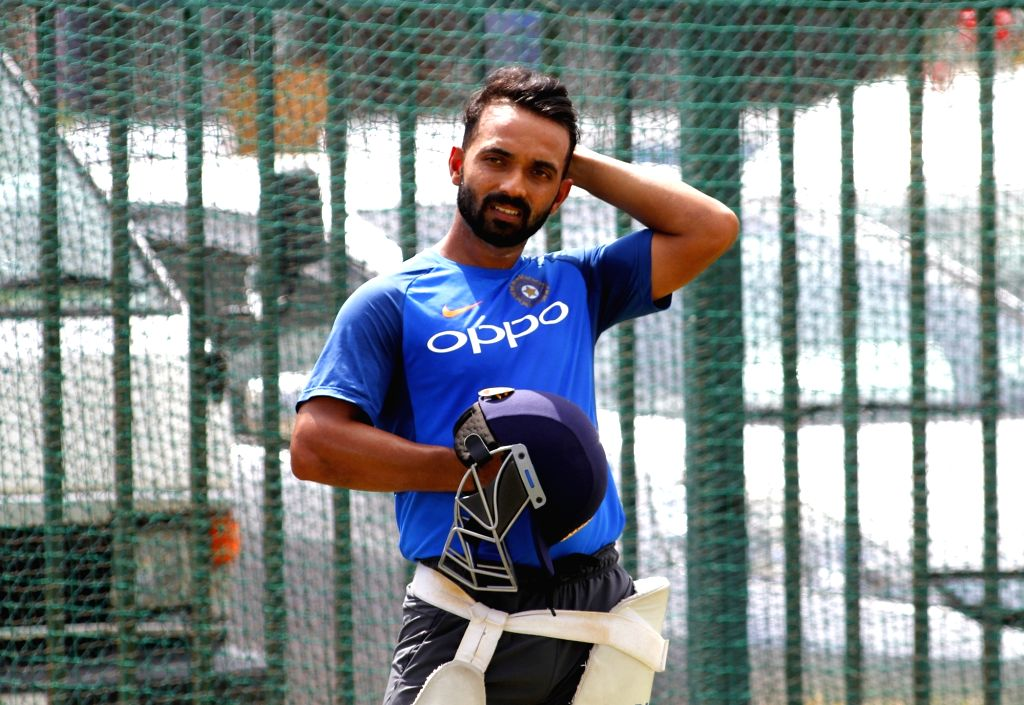 Ajinkya Rahane of India during a practice session ahead of the Test match series against Sri Lanka at Galle International Stadium in Galle, Sri Lanka on July 25, 2017.