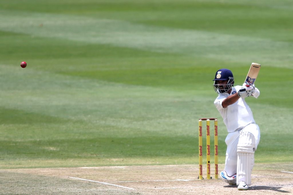 Ajinkya Rahane of India in action during Day 3 of the third Test match between South Africa and India at the Wanderers Stadium in Johannesburg, South Africa on Jan 26, 2018.