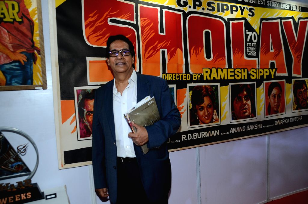 Ajitabh Bachchan  during the opening preview of The Osian Group`s The Greatest Indian Show on Earth 2, in Mumbai on June 16, 2017. - Ajitabh Bachchan