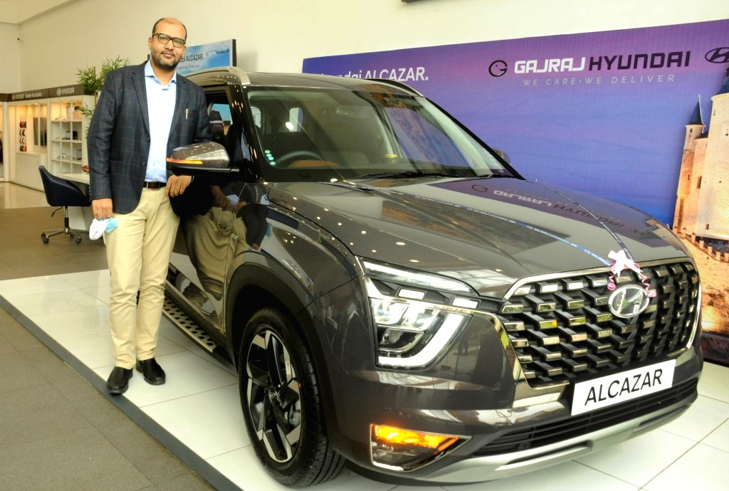 Akhil Agrawal, Co-Founder, Gajraj Hyundai during the launch of 6 and 7 seaters SUV Hyundai Alcazar in Kolkata on Friday 18 June, 2021.