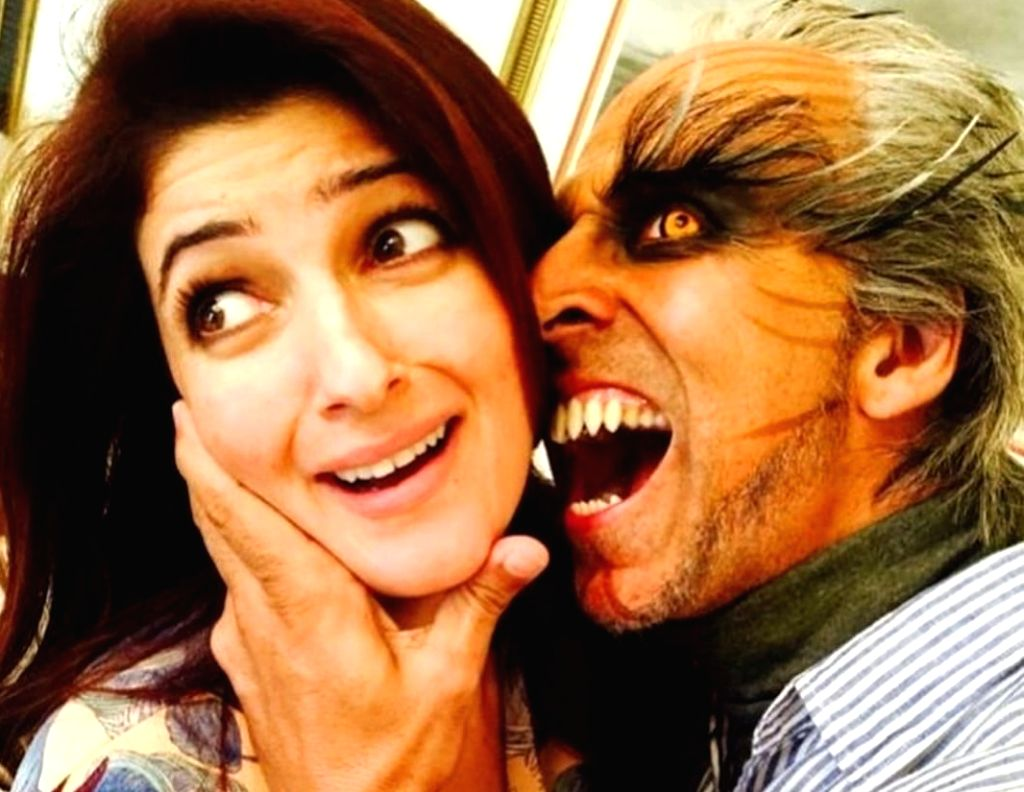 """Akshay Kumar and Twinkle Khanna shared a quirky picture post on social media to mark their 19th wedding anniversary. Akshay took to Instagram to share a picture where he is seen in his scary Pakshirajan avatar from the movie """"2.0"""", trying to plant a  - Akshay Kumar and Khanna"""