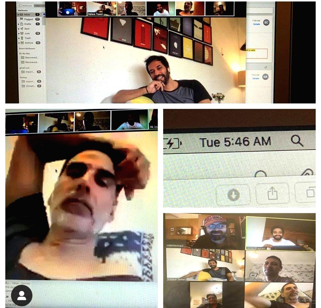Akshay Kumar has virtual meeting with upcoming film's crew at 5:46 am. - Akshay Kumar