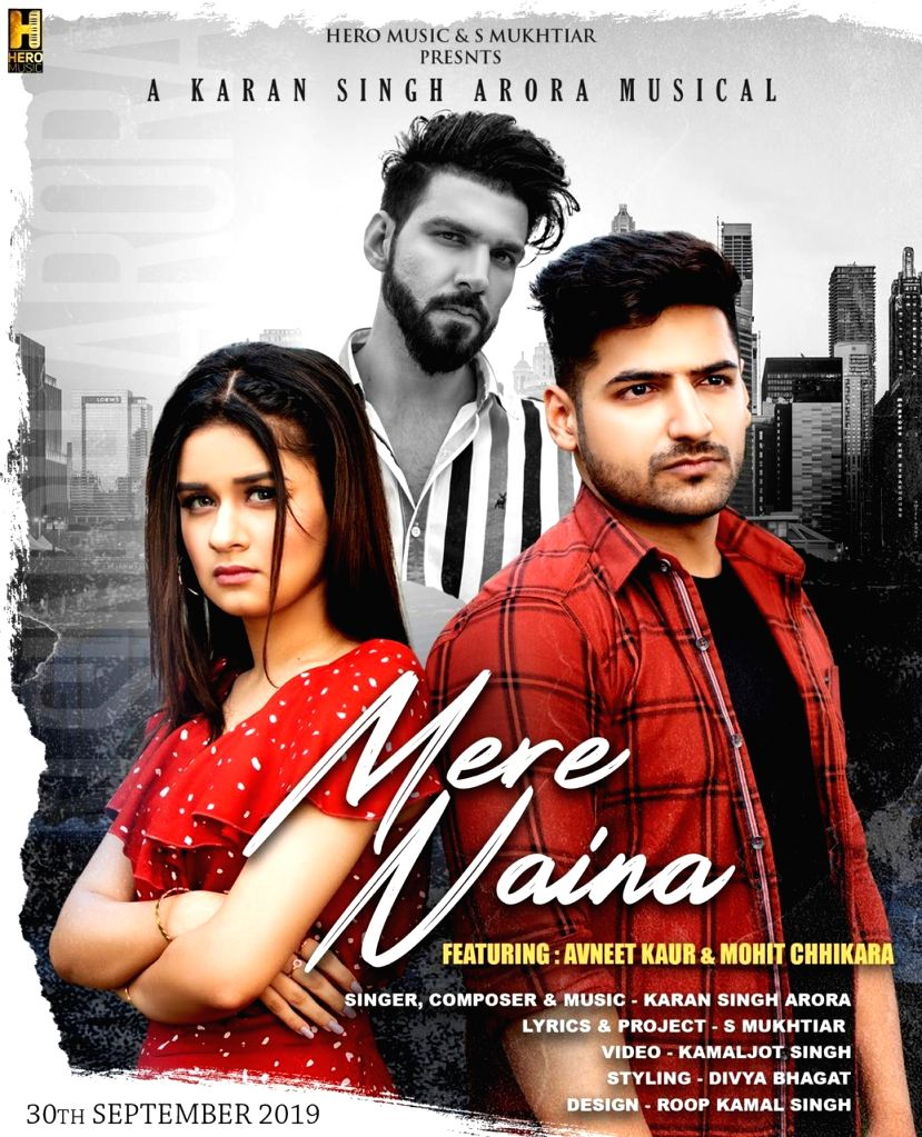 """""""Aladdin - Naam Toh Suna Hoga"""" actress Avneet Kaur has featured in the video of song """"Mere naina"""", which she describes as a beautiful tragic love story. The song is by singer and music director Karan Singh Arora with Avneet and YouTuber Mohit Chhikar - Avneet Kaur and Karan Singh Arora"""