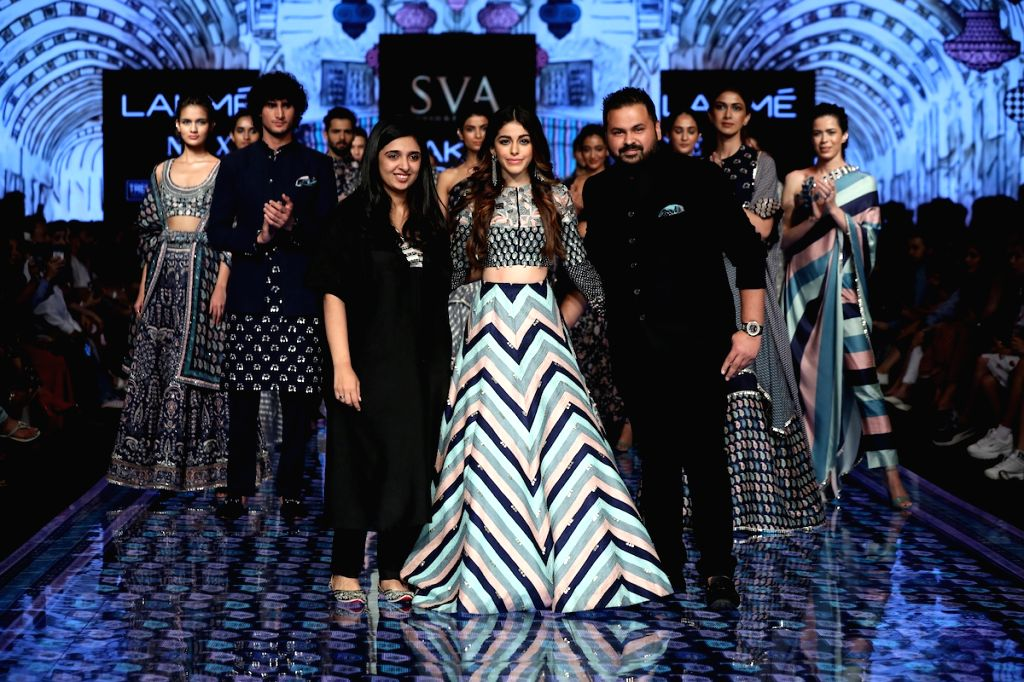 Alaya F walks for SVA by Sonam and Paras Modi at LFW SR20. - Modi