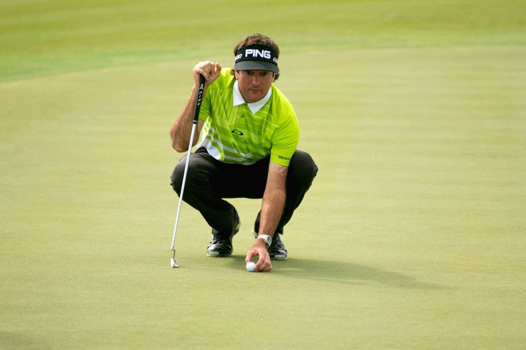 Albany (Bahamas): American professional golfer Bubba Watson on the third day of the 2015 Hero World Challenge in Albany, Bahamas on Dec 5, 2015.