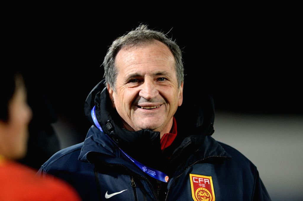 ALBUFEIRA, March 4, 2017 - Bruno Bini, coach of China, looks on before a Group C match between China and Sweden at the 2017 Algarve Cup women's football tournament in Albufeira, Portugal, March 3, ...
