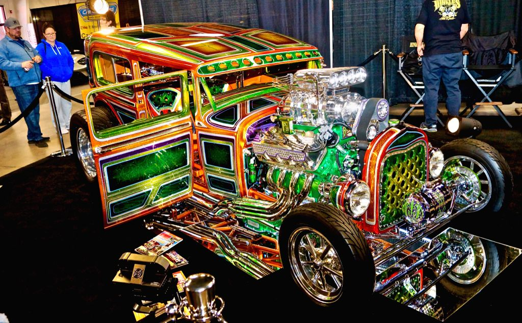 ALBUQUERQUE, Jan. 29, 2019 - A 1930 Ford 2-door restored sedan is seen at the 2019 Supernationals Custom Car Show in Albuquerque, New Mexico, the United States, Jan. 27, 2019. The car show, held from ...