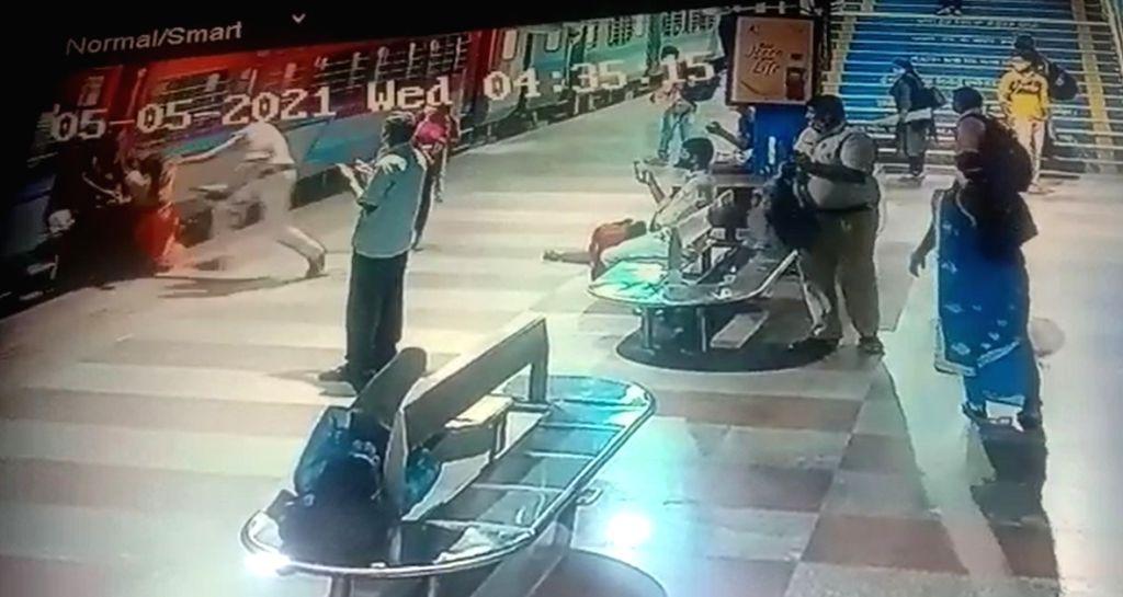 Alert RPF constable saves woman from falling under train in Tirupati