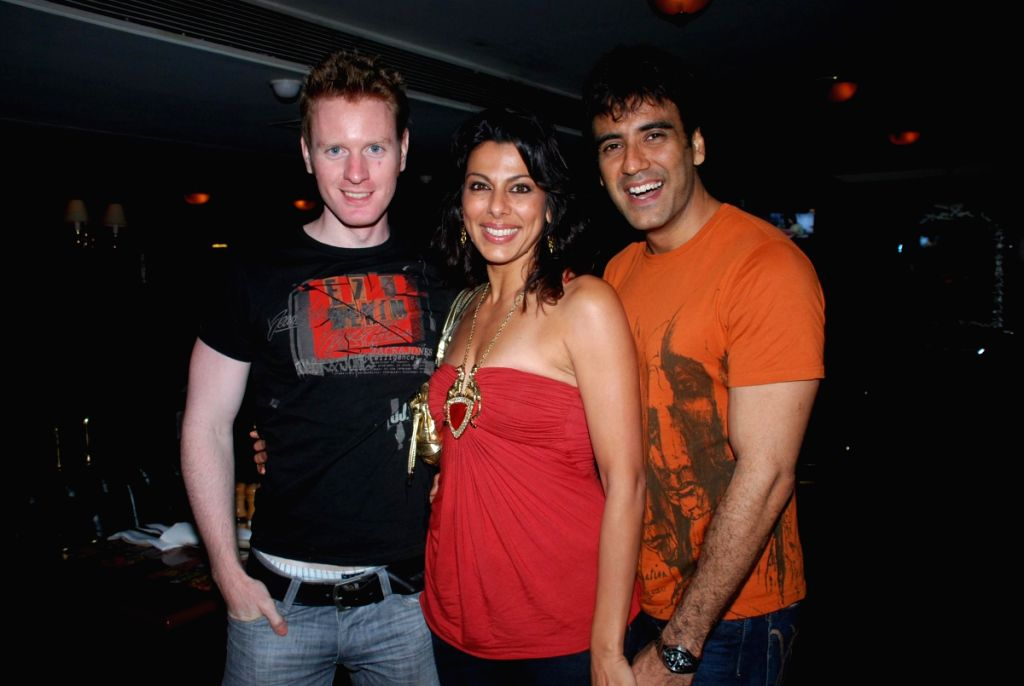 Alex, Pooja Bedi with Karan at Iron Maiden Tribute with band One Night Stand at Firangi Paani.