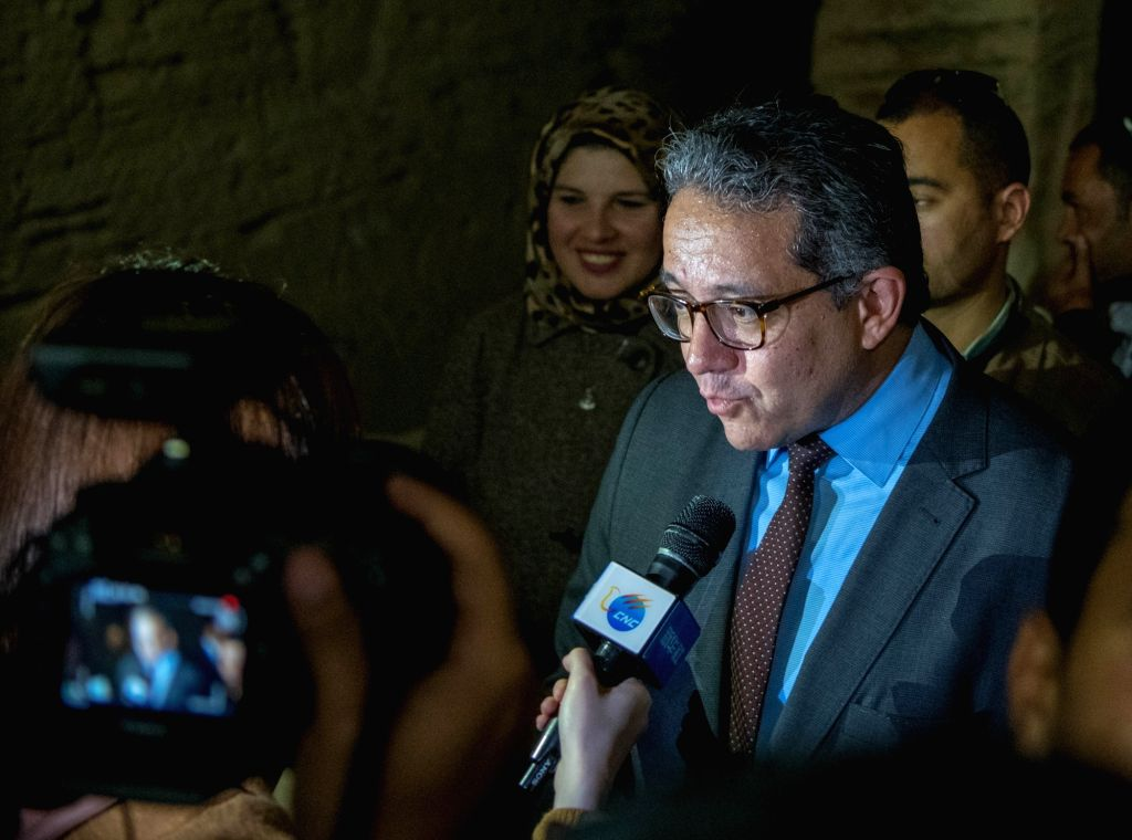 ALEXANDRIA (EGYPT), March 3, 2019 Khaled al-Anany, Egypt's minister of antiquities, speaks during an interview in Alexandria, Egypt, on March 3, 2019. Egypt is looking forward to further ...