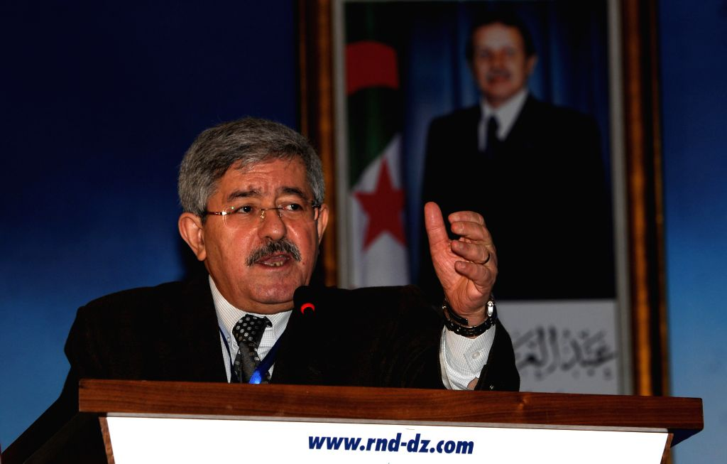 ALGIERS, Aug. 15, 2017 - The undated file photo shows Ahmed Ouyahia addressing a meeting. Algerian President, Abdelaziz Bouteflika, on Tuesday appointed Ahmed Ouyahia as prime minister, replacing ...