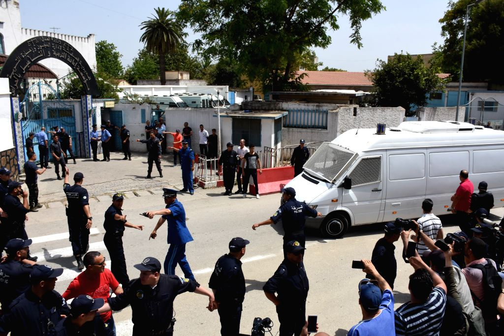ALGIERS, June 13, 2019 - A van carrying former Algerian Prime Minister Abdelmalek Sellal arrives at El Harrach prison in Algiers, Algeria, on June 13, 2019. The Algerian Supreme Court on Thursday ... - Abdelmalek Sellal