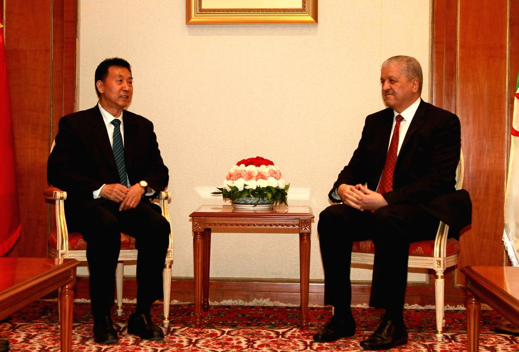 ALGIERS, May 29, 2016 - Chinese State Councilor Wang Yong (L) meets with Algerian Prime Minister Abdelmalek Sellal in Algiers, Algeria, May 28, 2016. China and Algeria agreed during the visit by the ... - Abdelmalek Sellal