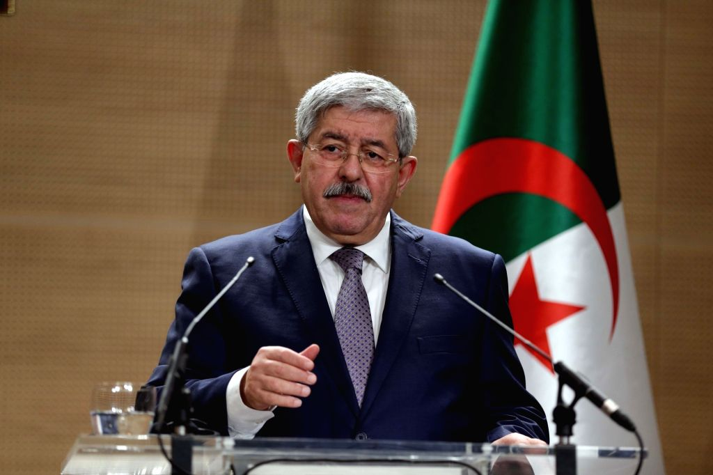 ALGIERS, Sept. 17, 2018 - Algerian Prime Minister Ahmed Ouyahia speaks at a joint press conference with German Chancellor Angela Merkel (not in the picture) in Algiers, Algeria, on Sept. 17, 2018. ... - Ahmed Ouyahia