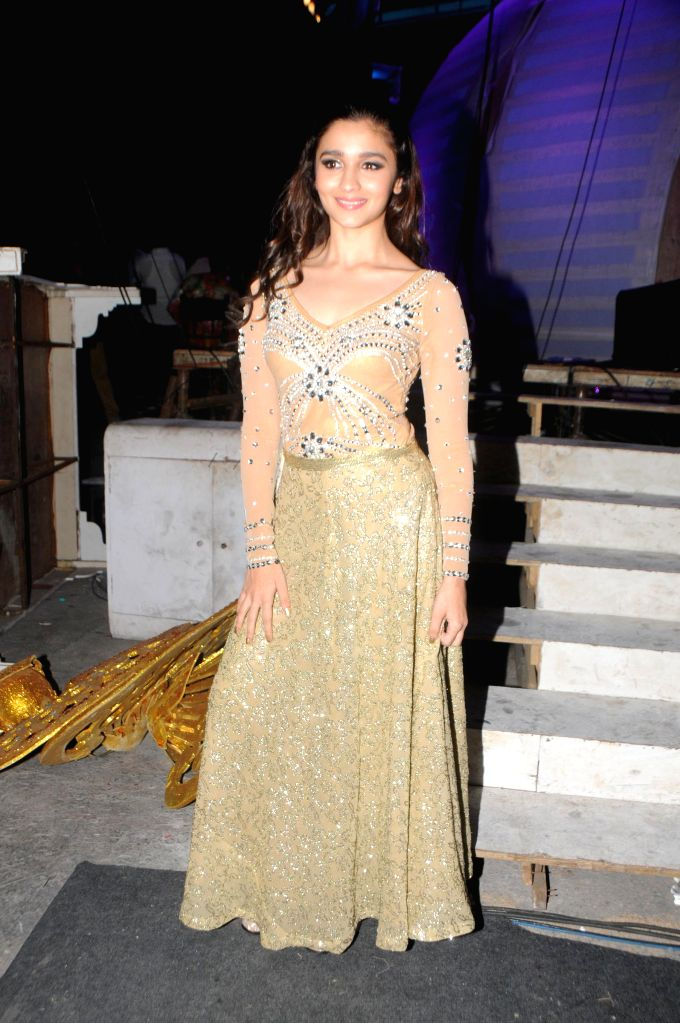 Alia Bhatt during the International Indian Achiever`s Award 2014 presented by YES BANK in Mumbai on July 27, 2014.