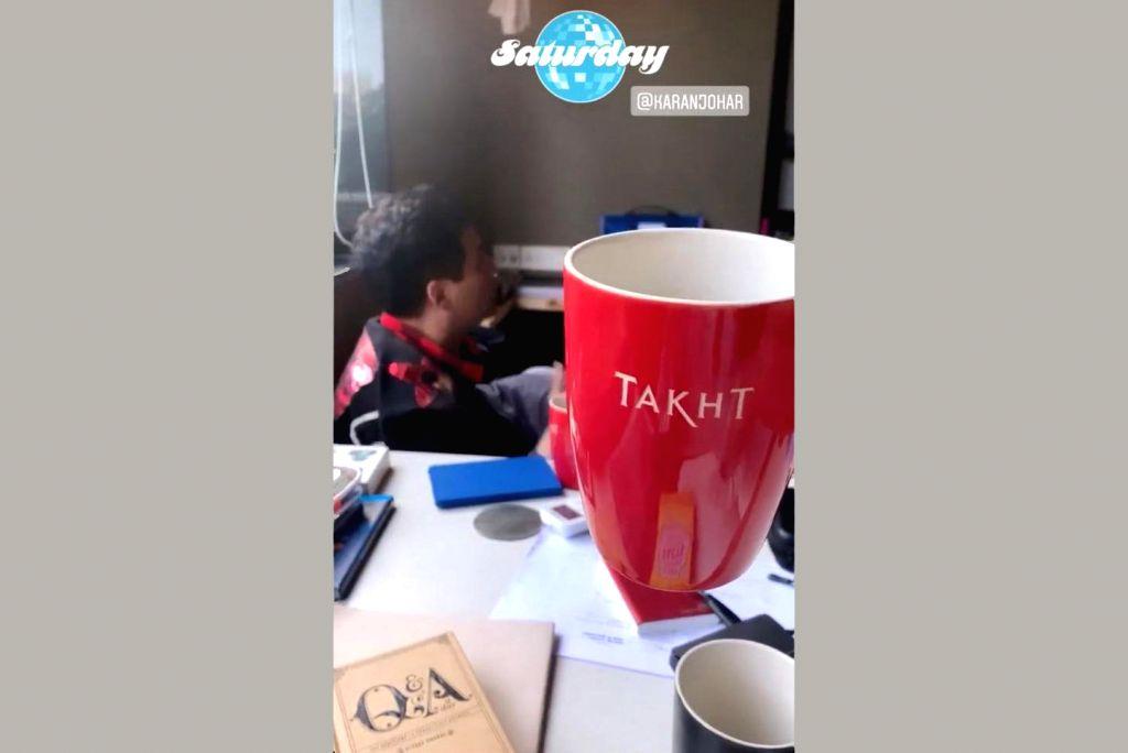 Alia shares glimpse of 'Takht' talks with KJo.