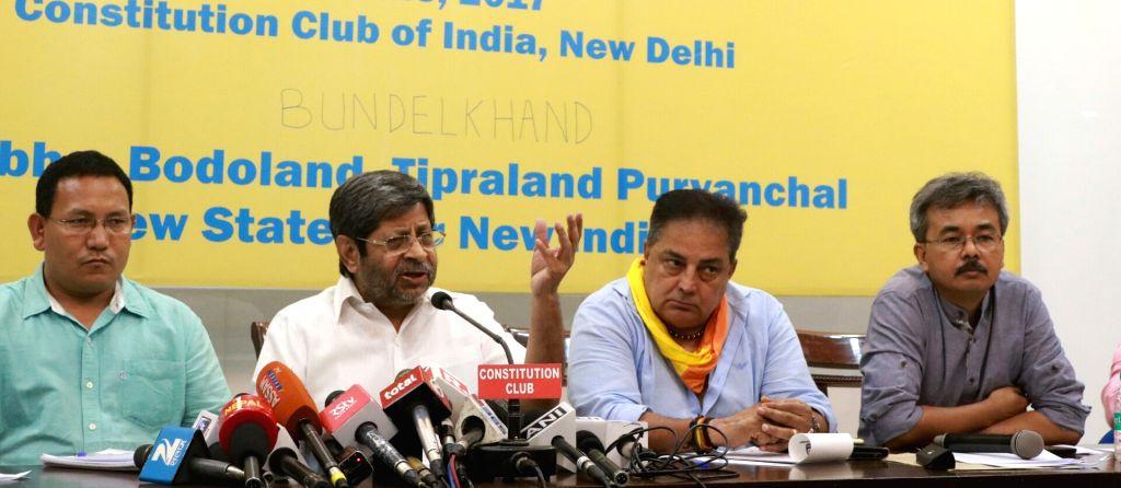 All Bodo Students Union (ABSU) president Pramod Boro, National Federation of New States (NFNS) president Shrihari Aney, Bundelkhand Mukti Morcha president Raja Bundela and Bharatiya Gorkha ...