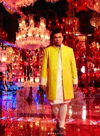 All dressed up and looking gorgeous in stunning ensembles, Bollywood stars like Amitabh Bachchan, Karan Johar, Shah Rukh Khan and Sara Ali Khan among many others celebrated the festival of lights ... - Karan Johar, Amitabh Bachchan, Rukh Khan and Sara Ali Khan