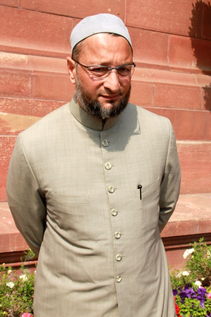 All India Majlis-e-Ittehadul Muslimeen (AIMIM) chief Asaduddin Owaisi arrives to attend the second phase of Budget Session of the Parliament, in New Delhi on March 9, 2017.