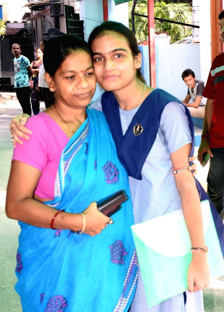All over Bengal Class 12 2nd topper in Class 12 Board examinations Sanjukta Bose celebrates with her mother after the West Bengal Council of Higher Secondary Education (WBCHSE)declared class ... - Sanjukta Bose