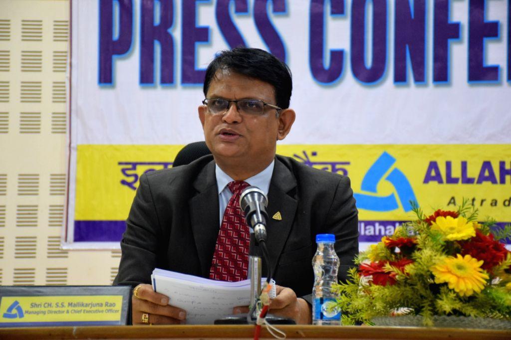 Allahabad Bank MD and CEO S. S. Mallikarjuna Rao addresses a press conference in Kolkata, on Feb 6, 2019.