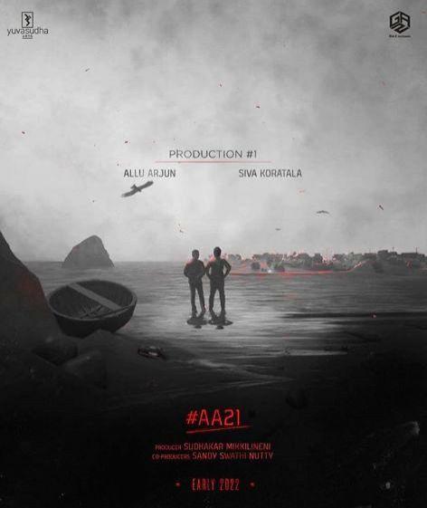 Allu Arjun announces 'AA21' with Koratala Siva.