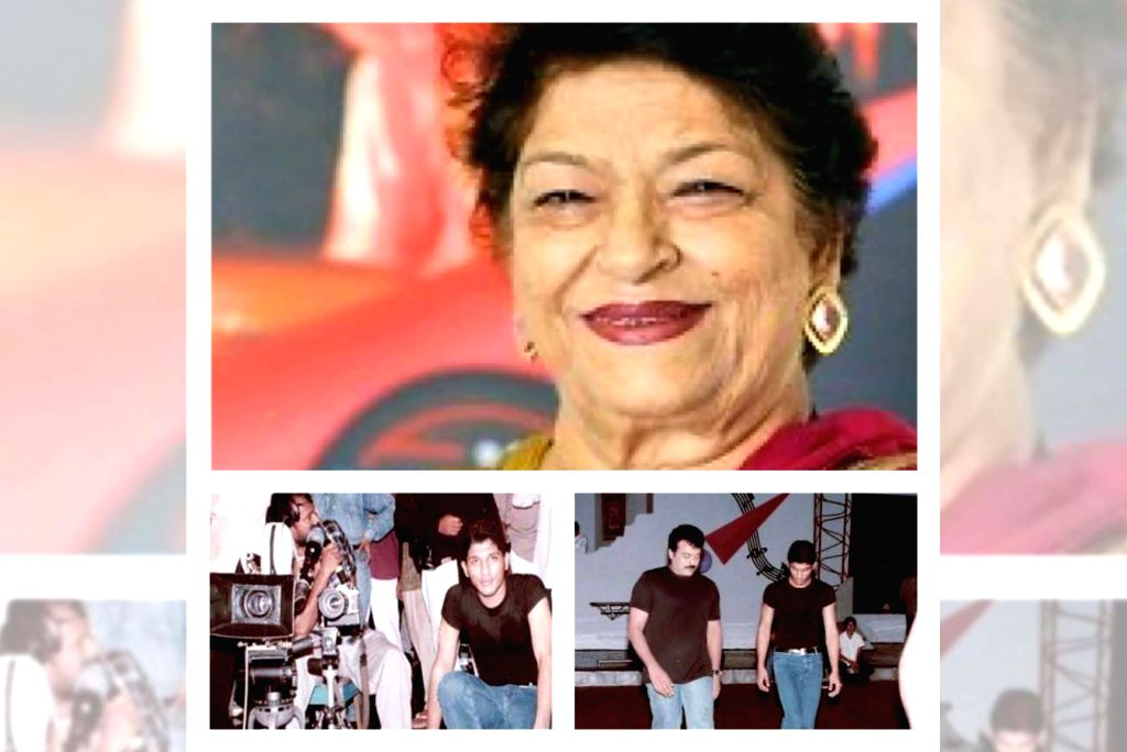 Allu Arjun 'bows down' to his 1st choreographer Saroj Khan. - Saroj Khan