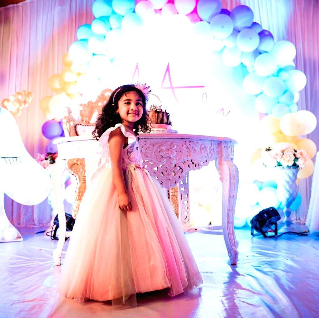 Allu Arjun's Daughter Arha Birthday Celebrations held at Mythri Movie Makers shooting location.