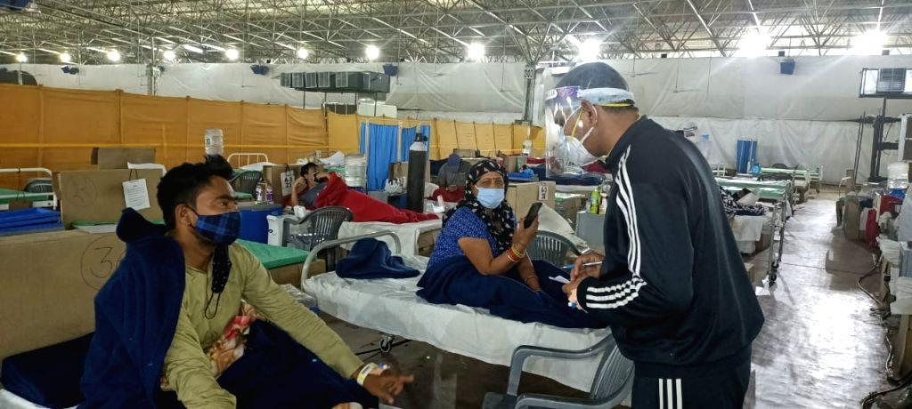 Always on duty: He helps Covid patients even as he battles virus.
