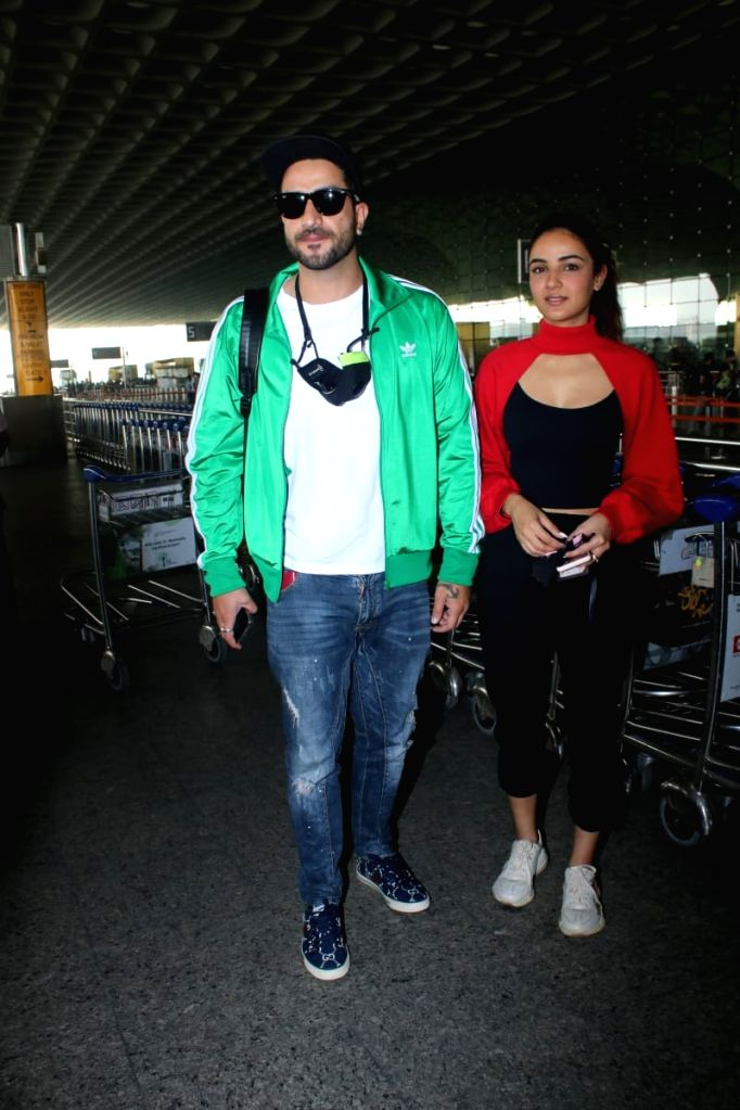 Aly Goni & Jasmin Bhasin Spotted at Airport Departure on Tuesday 23nd February 2021.