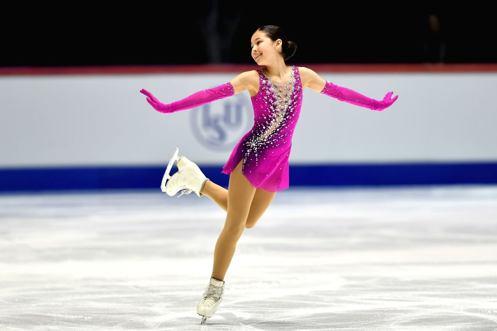 Alysa Liu of the United States performs during the ladies' short program at the ISU World Junior Figure Skating Championships in Tallinn, Estonia, March 6, 2020.