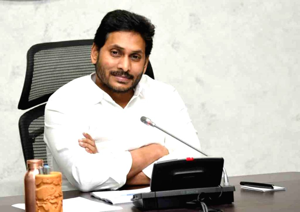 Amaravti: Andhra Pradesh Chief Minister YS Jagan Mohan Reddy chairs a meeting to review the situation of COVID-19 in the state, in Amaravati on Sep 4, 2020. (Photo: IANS) - Jagan Mohan Reddy
