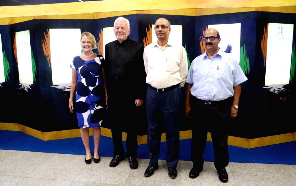 Ambassador of Sweden to India, Harald Sandberg, along with Managing Director of Delhi Metro Rail Corporation Ltd. Mangu Singh  inaugurates of The Nobel Memorial Wall to mark the beginning ... - Mangu Singh