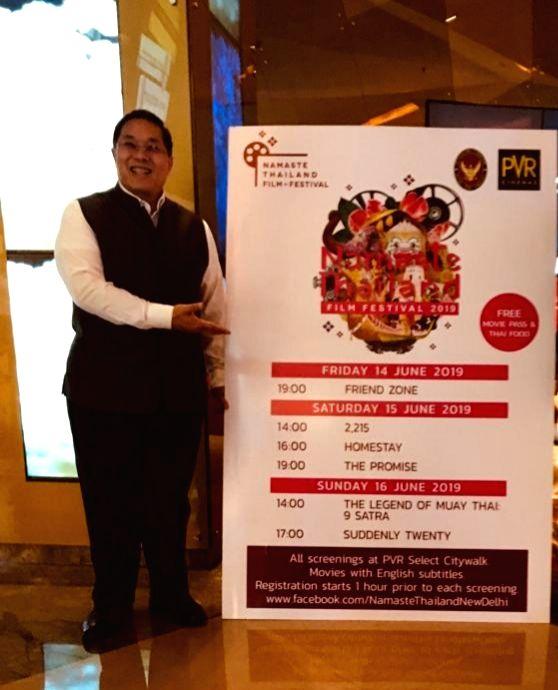 Ambassador of Thailand, Chutintorn Gongsakdi at Thai Film Festival in New Delhi on June 14, 2019.