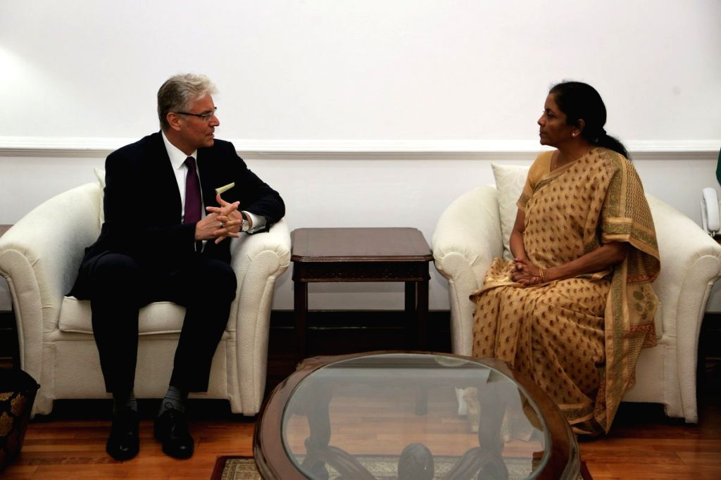 Ambassador of the Slovak Republic, Ivan Lancaric calls on Defence Minister Nirmala Sitharaman, in New Delhi on Aug 2, 2018. - Nirmala Sitharaman