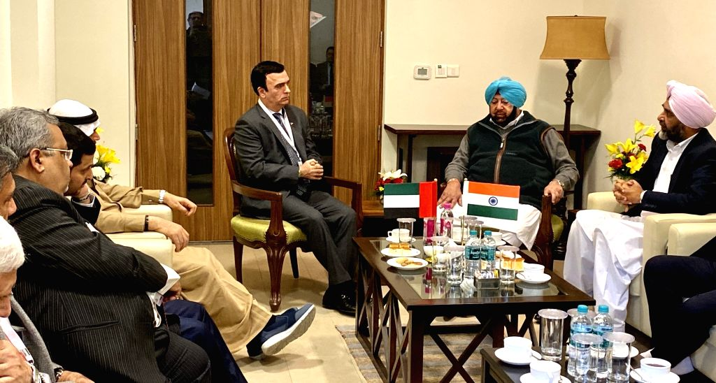Ambassador of the UAE to India Ahmed A.R. AlBanna meets Punjab Chief Minister Captain Amarinder Singh on the sidelines of the Progressive Punjab Investors Summit (PPIS)-2019 in Mohali on Dec ... - Captain Amarinder Singh