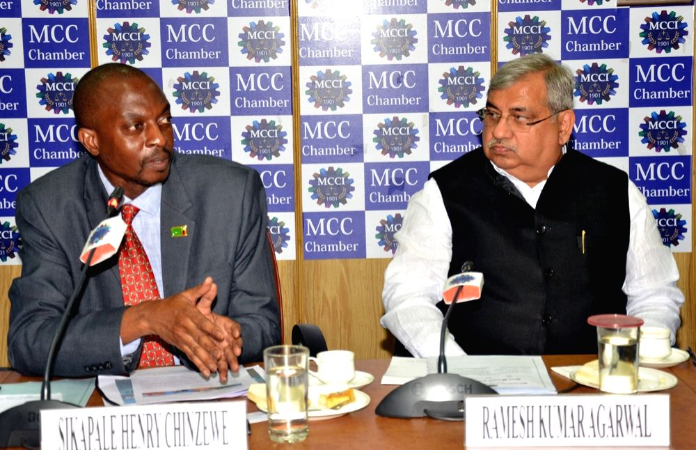 Ambassador of Zambia to India Sikapale Henry Chinzewe during an interactive session organised by MCCI in Kolkata, on June 27, 2016.