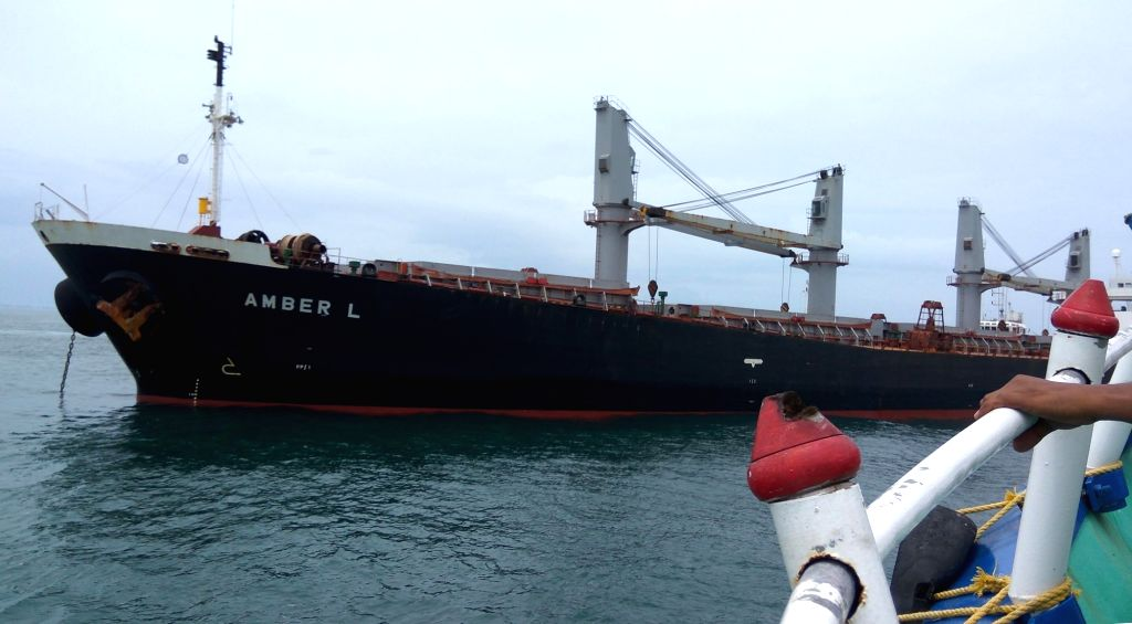 Amber L - a bulk carrier cargo ship that hit a fishing boat on the high seas killing at least two fishermen of Kochi coast on June 11, 2017.