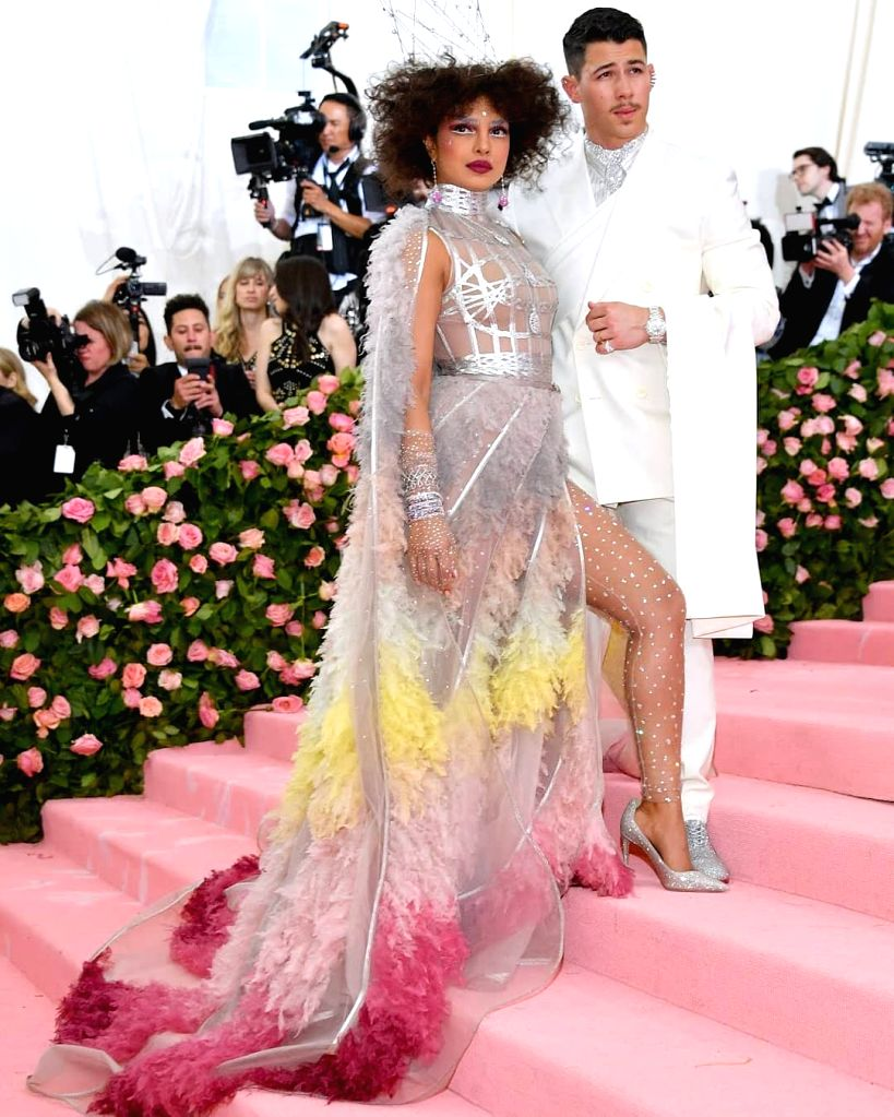American actor-singer Nick Jonas and actress Priyanka Chopra Jonas brought a dose of whimsy to the Met Gala 2019 with their appearance as a married couple. Nick, 26, and Priyanka, 36, attended their first Met Gala here as a married couple on Monday n - Priyanka Chopra Jonas