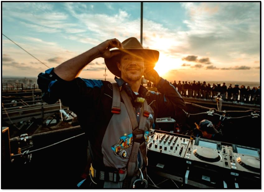 American deejay-record producer Diplo made history by being the first high profile international artist to perform his set on top of Australia's iconic Sydney Harbour Bridge.