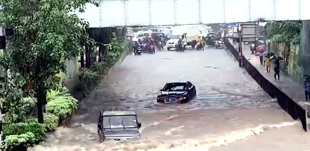 Amid heavy rain that has disrupted normal life here, with people posting pictures and videos on the citys flooded roads, a video has gone viral showing a Jaguar is stranded in a flooded underpass at Airoli in Navi Mumbai, but an Indian-made SUV Boler