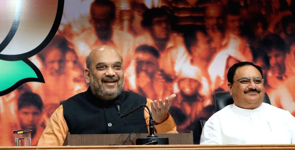 Amit Shah and  JP Nadda. (Photo: IANS) - Amit Shah