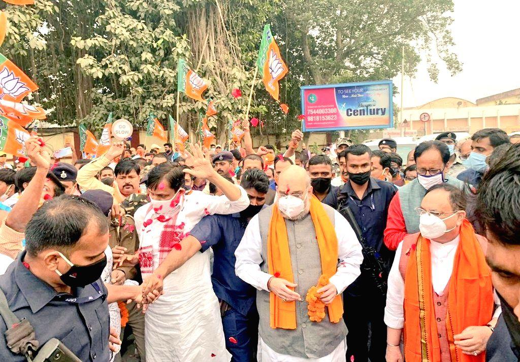 Amit Shah, JP Nadda reached Patna. - Amit Shah