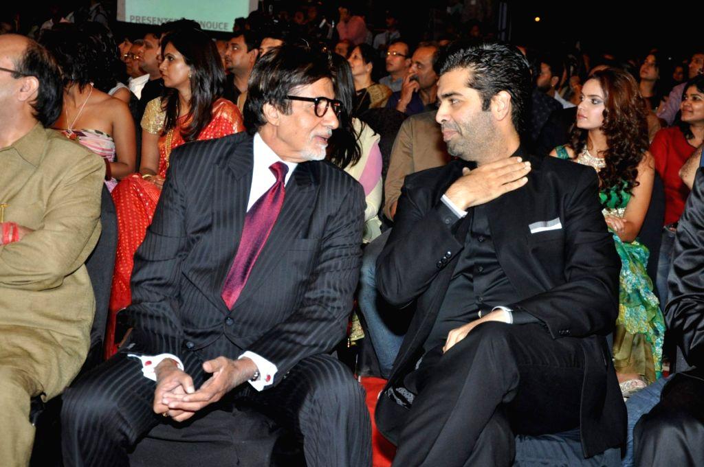 Amitabh Bachchan and Karan Johar at Stardust Awards 2010 in Mumbai.