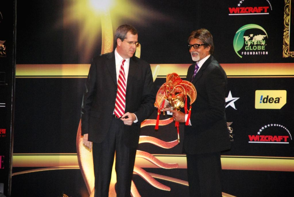 "Amitabh Bachchan at ""iifa"" press meet."